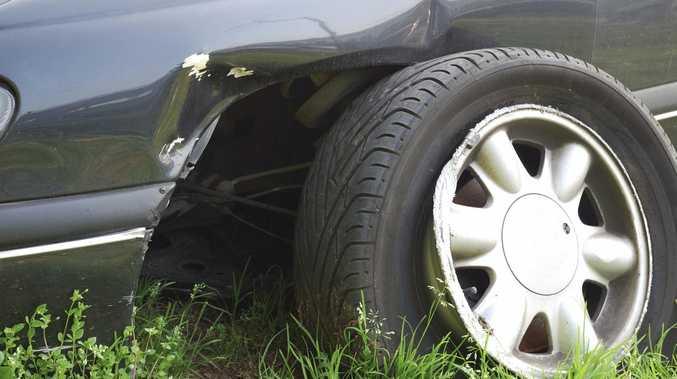 Mackay car thief's wheely bad move
