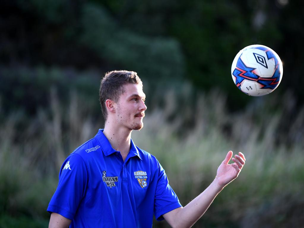 Golden boot surprise packet Ollie Colam has emerged as the leading marksman for Kawana Force following a host of dependable departures. Photo: Warren Lynam