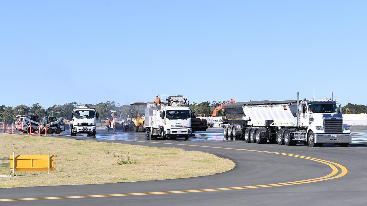 Sunshine Coast Airport new runway tarmac. Photo Patrick Woods