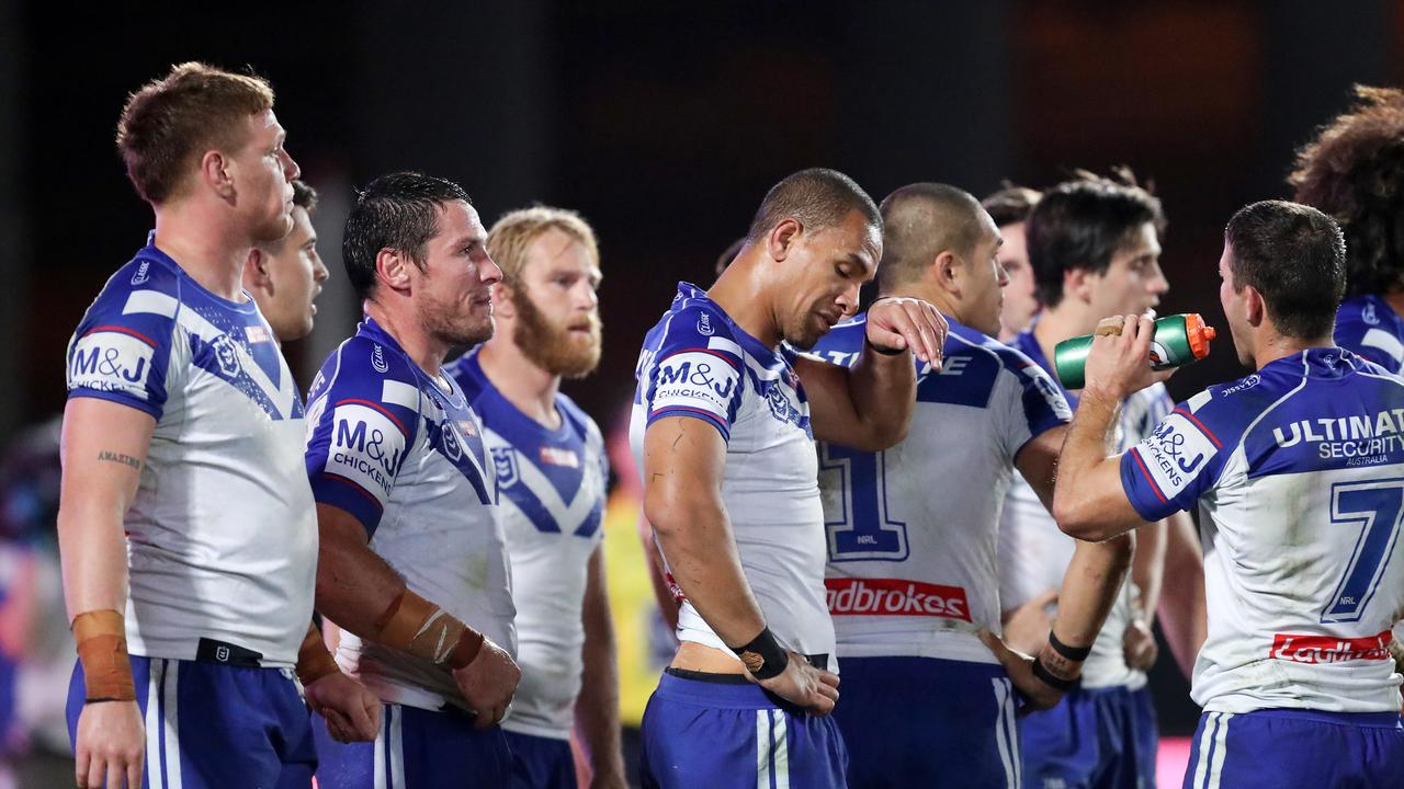 The Bulldogs are being outclassed... but the effort remains. Picture: AAP