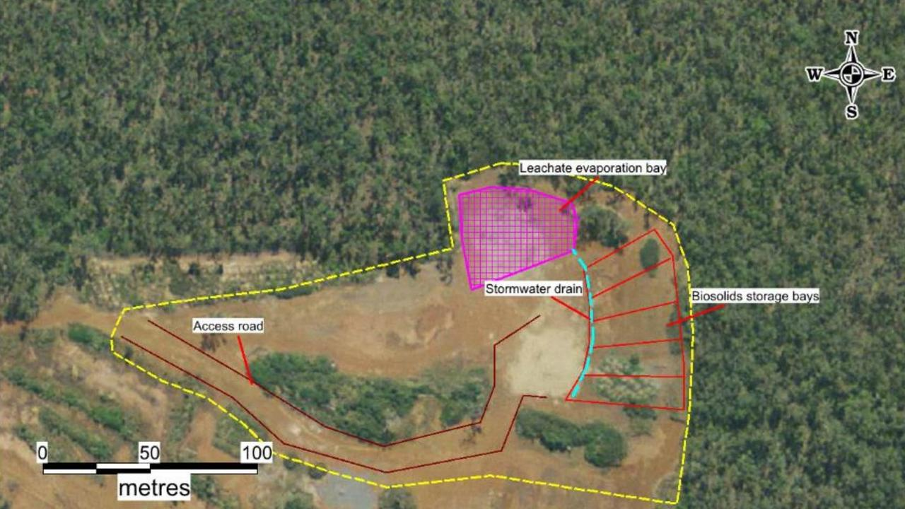 The Biosolids Storage Facility site plan.