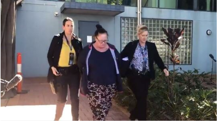 Shannon White, 43, the stepmother of Willow Dunn, 4, who was allegedly found dead in her cot, has been arrested and charged with murder. Picture: 9 News