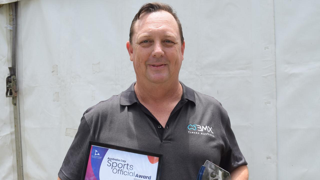 Bruce Crow won the Sports Official Award at Gladstone Regional Council's Australia Day Awards 2020. PICTURE: Eilish Massie