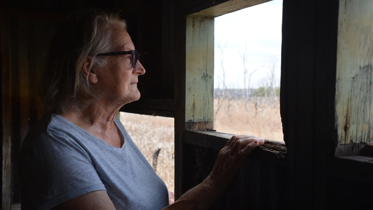 Wooroolin artist Diana Bolton has watched the wetlands dry back up and the birdlife slowly leave from the birdhide. (Photo: Jessica McGrath)