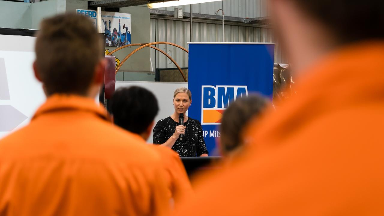 BMA welcomed 56 new apprentices from across Queensland earlier this year.