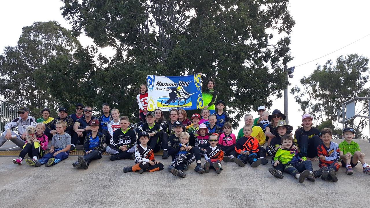 ONE BIG FAMILY: The crew from Gladstone Harbour City BMX Club. PICTURE: Nick Kossatch