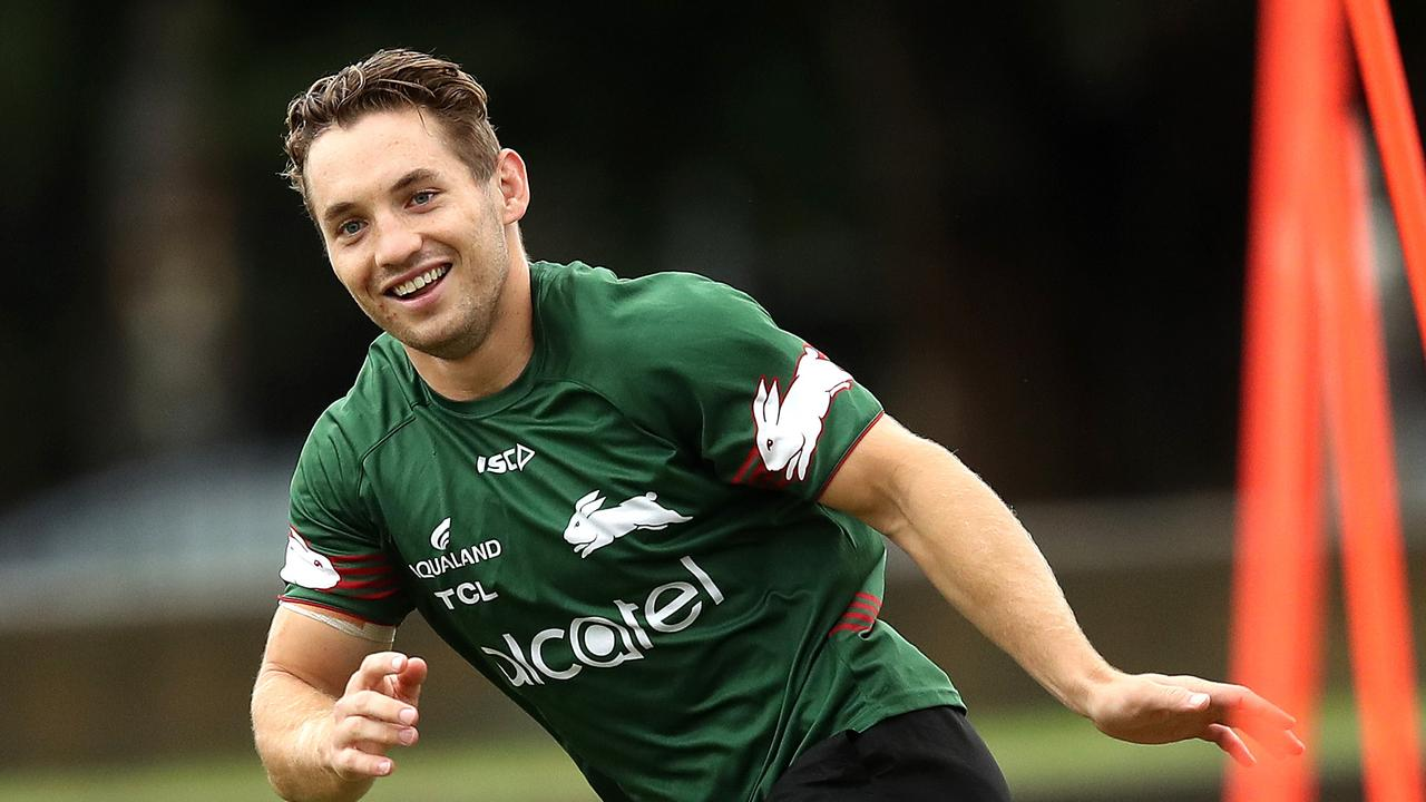 Cameron Murray during South Sydney Rabbitohs training ahead of their first game of the season against the Sharks. Picture. Phil Hillyard