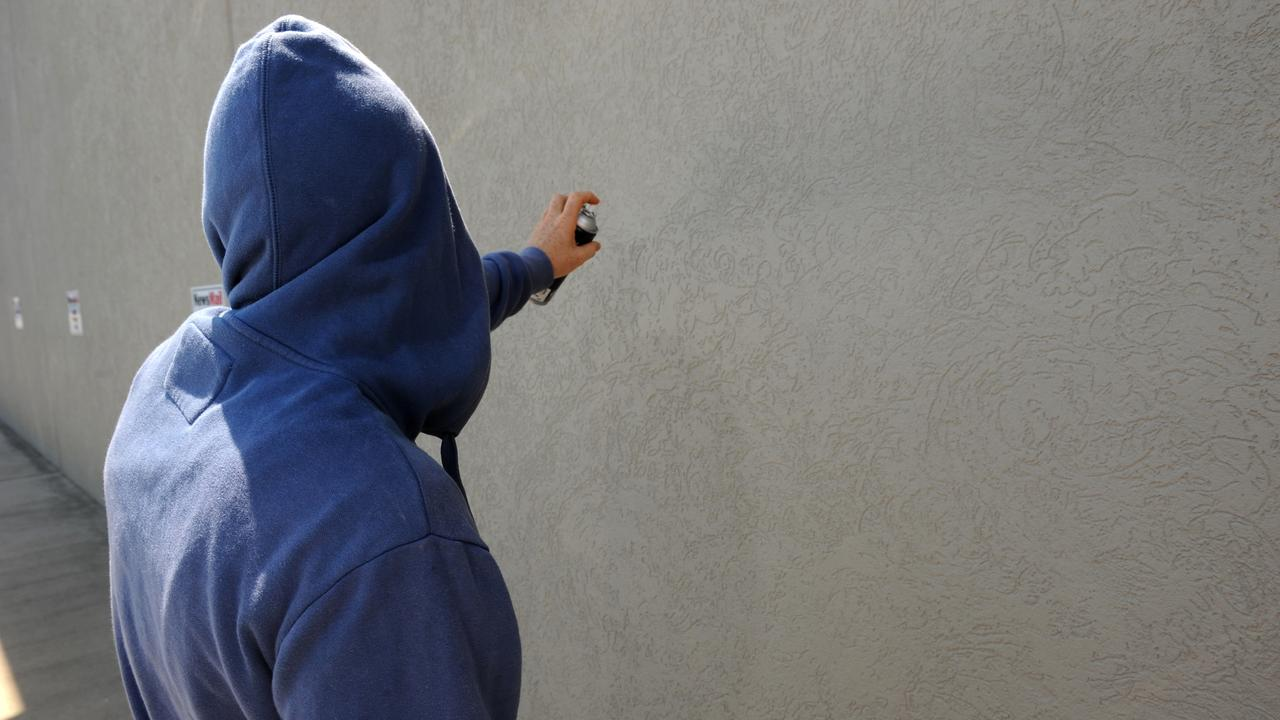 Police have arrested a 14-year-old boy for allegedly spray painting a Pialba office front recently. PHOTO: File.