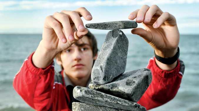 Pop-up rock towers build community spirit