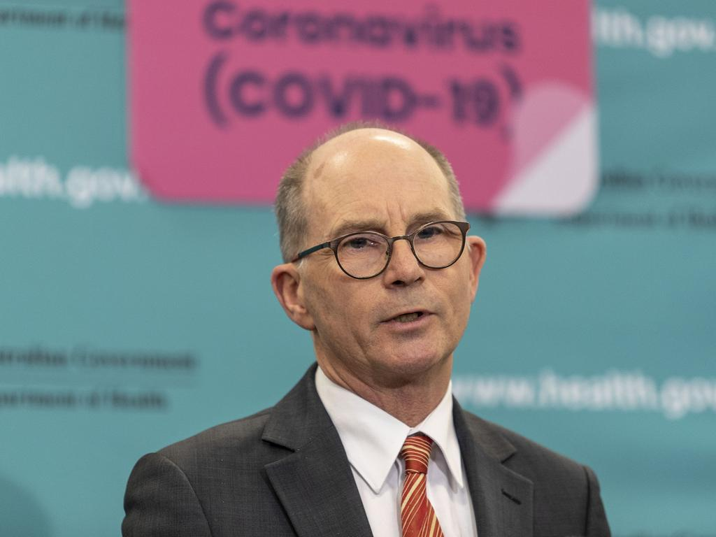 Deputy Chief Medical Officer, Professor Paul Kelly during a press conference in Canberra. Picture Gary Ramage