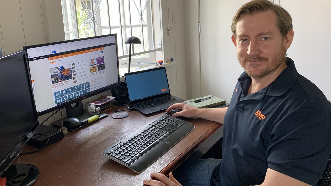 BMAs Jonathon Regan working from home.