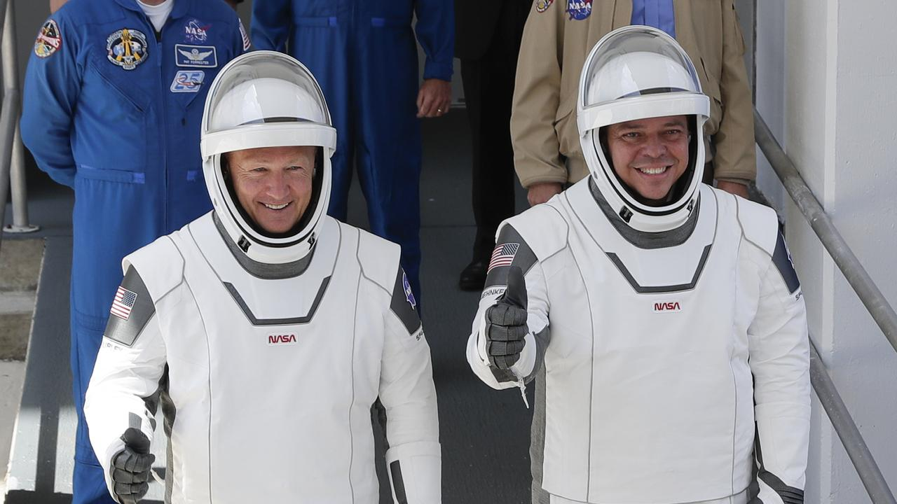 NASA astronauts Douglas Hurley and Robert Behnken had to go through a brutal selection process before they made it into space. Picture: John Raoux/AP