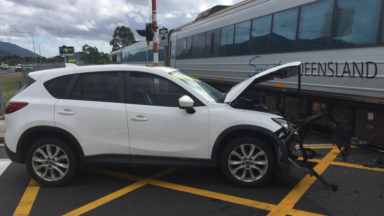 A car has collided with the Spirit of Queensland train at a crossing in Edmonton. Picture: Supplied