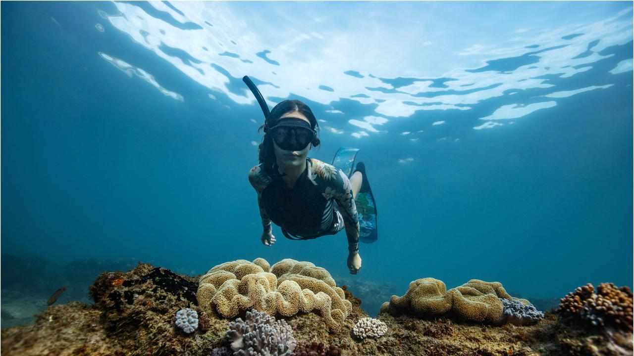 PUTTING BUNDY ON YOUR BUCKETLIST: Brooke Olive at Barolin Rocks Dive Site. Photo: Tracy Olive.