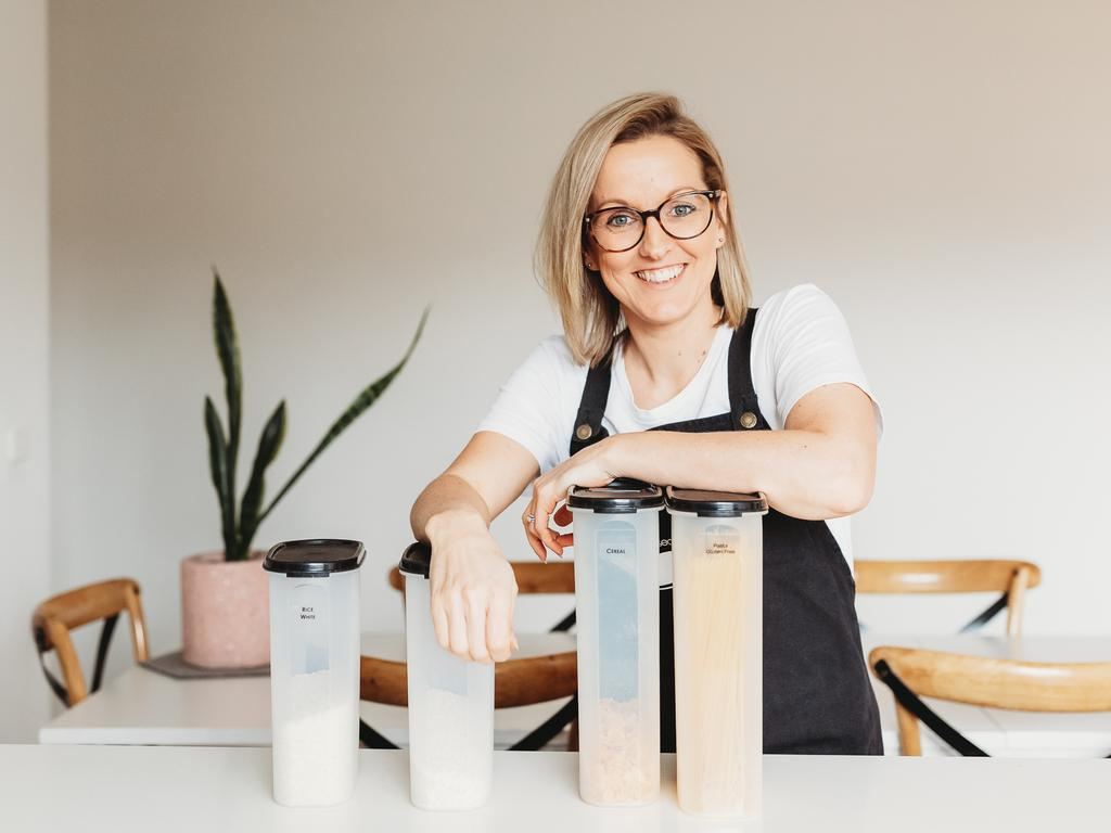 Melbourne-based professional organiser Erin Boyce wants to stop the growing anxiety she's seeing over 'perfect' home organisation hacks. Picture: Supplied.