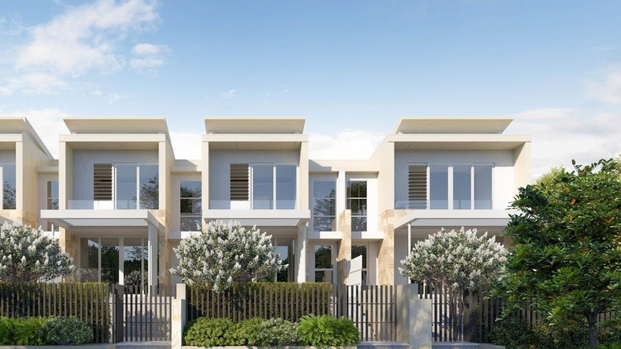 A conceptual image of the eight townhouses planned for along Honeysuckle Drive, Sawtell.
