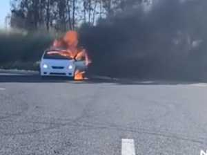Car found ablaze two hours after alleged police evasion