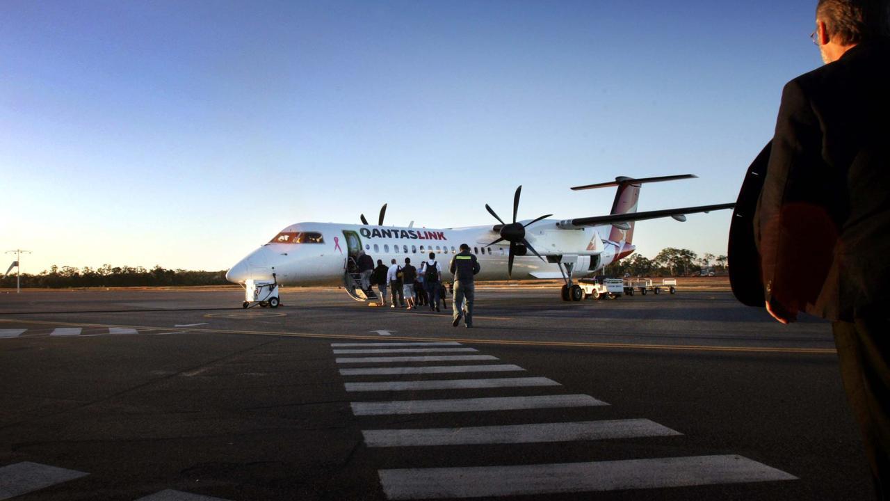 Village Green - Gladstone Airport, heading to a plane bound for Brisbane -