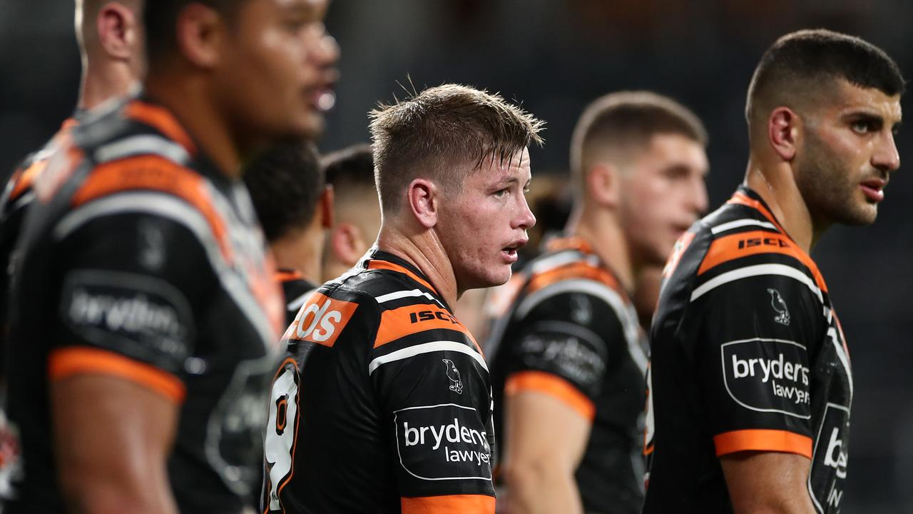 Yeppoon's Harry Grant and his Tigers teammates scored a solid win over Parramatta. Picture: Photo by Cameron Spencer/Getty Images