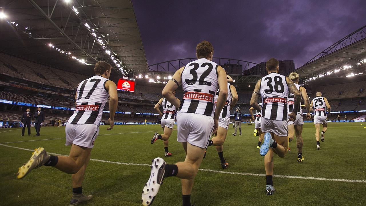 The AFL is investigating whether spectators could return to games in small numbers, including the possibility of starting with 50 seated patrons.