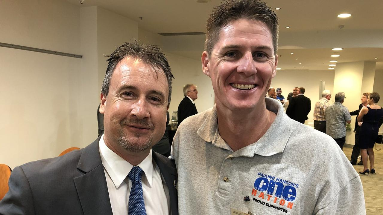 Paul Henselin (left) is One Nation's candidate for Scenic Rim in the upcoming state election.