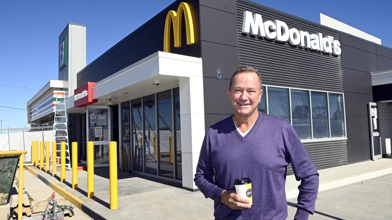Mark Ward will soon open his eighth McDonald's Restaurant. The latest one is in Westbrook is nearing completion and should be open in a few weeks. Photo Bev Lacey