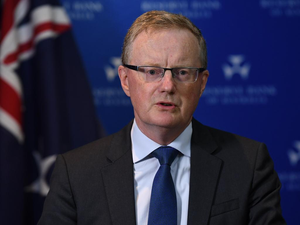 RBA Governor Philip Lowe. Picture: AAP's Joel Carrett