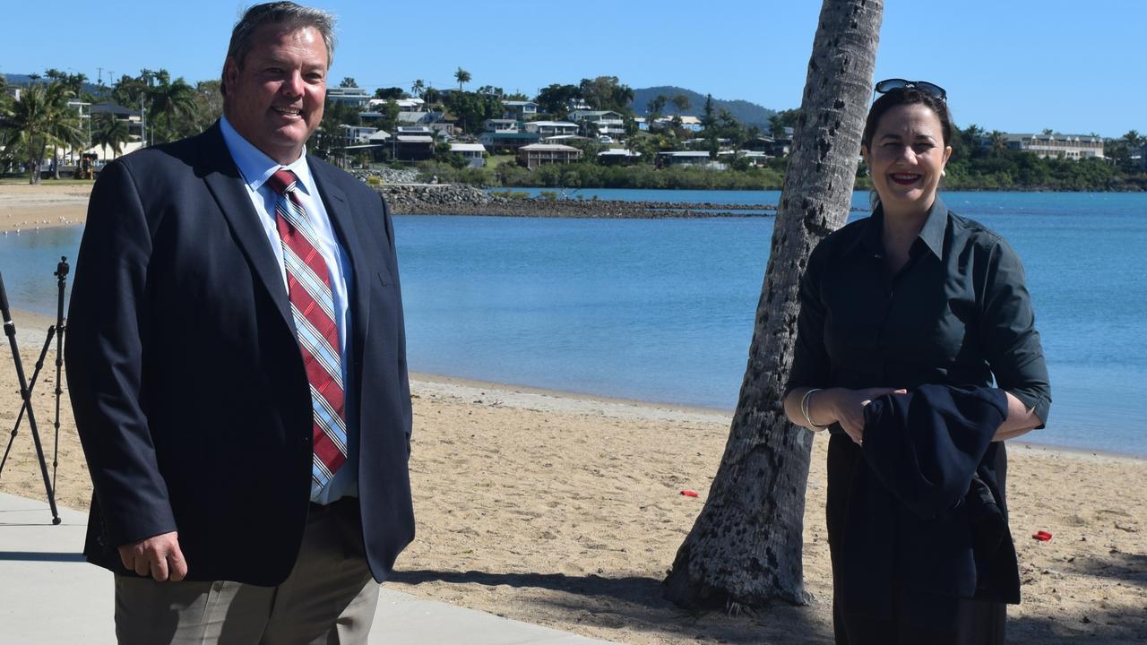 Whitsunday Mayor Andrew Willcox and Premier Annastacia Palaszczuk yesterday.