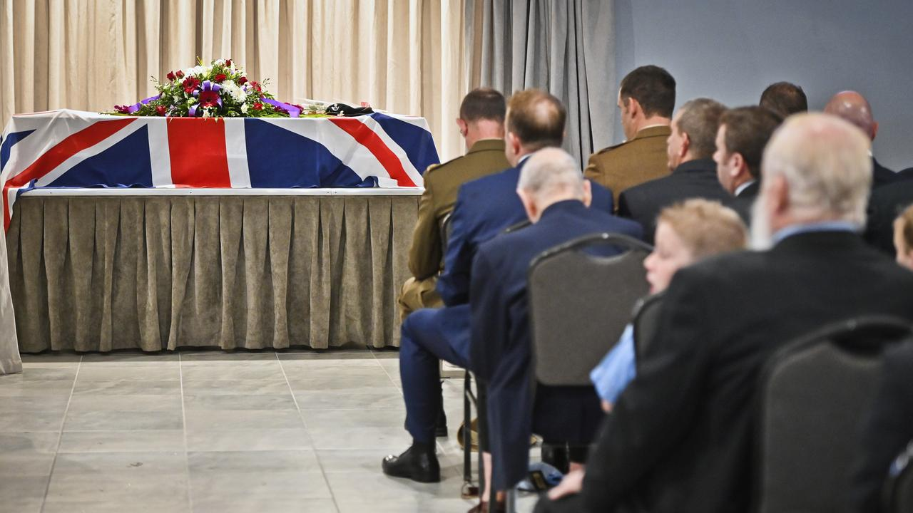 Brian Fortune, believed to be 95, was farewelled in Goodna in March. Picture: Cordell Richardson