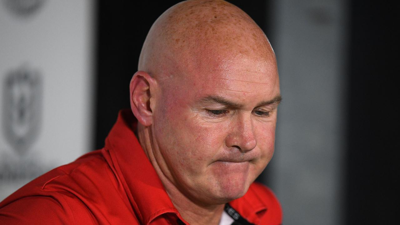 Dragons coach Paul McGregor. Picture: Dan Himbrechts/AAP