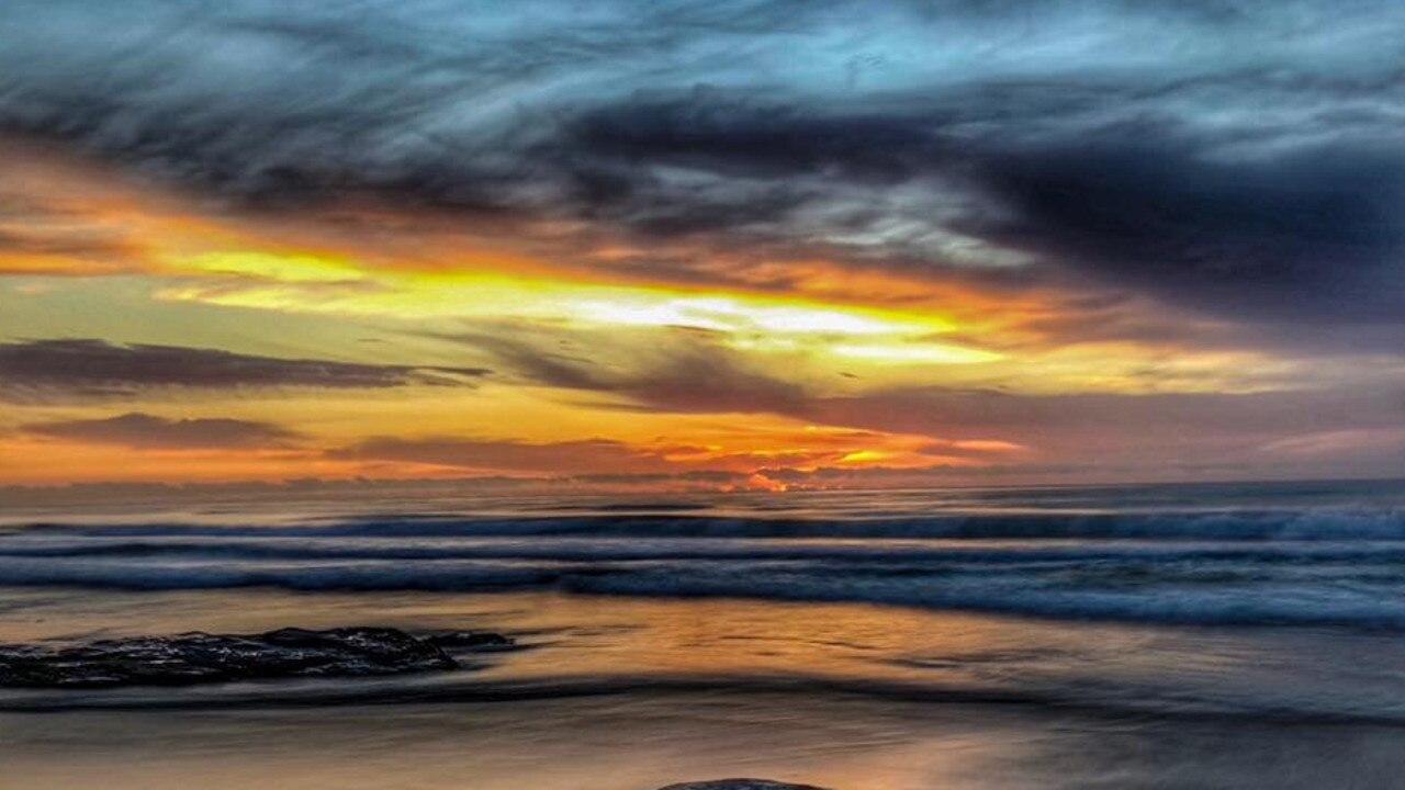 Sunrise at Black Rocks south of Evans Head.