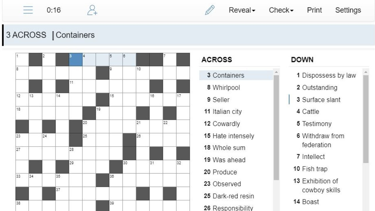 The puzzles are easy to navigate. Enter numbers or words using your keyboard or smartphone.
