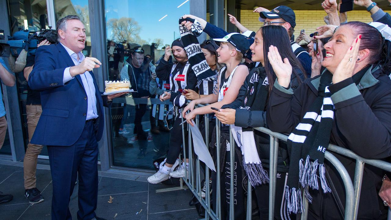 Collingwood president Eddie McGuire rejected an approach about private ownership from a major US sports franchise. Picture: Mark Stewart
