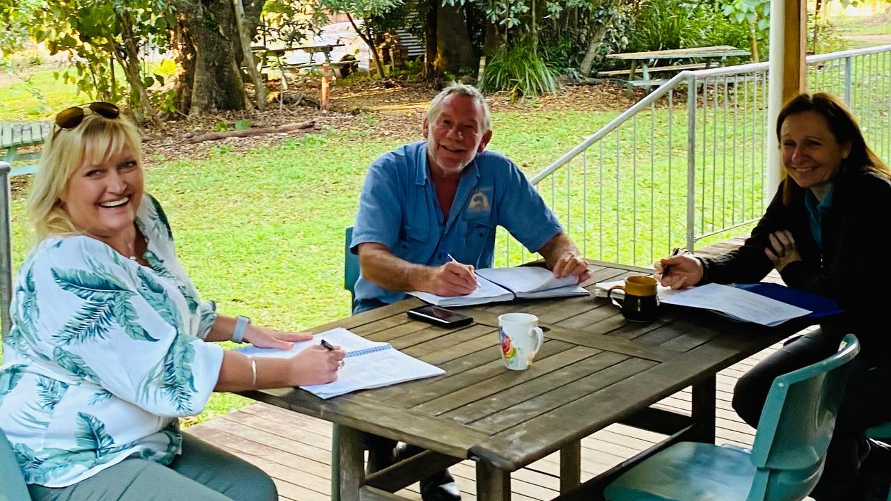 GREEN CONNECTION: Tourism Noosa's Juanita Terry-Bloomfield, Noosa & District Landcare Groups Phil Moran and Rachel Lyons.