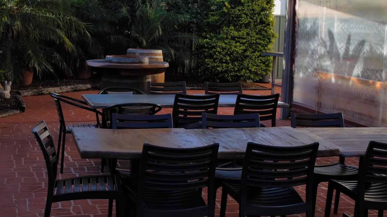 Commercial Hotel's beer garden