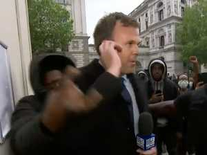 Another Nine reporter ambushed in protests. SEE THE VIDEO