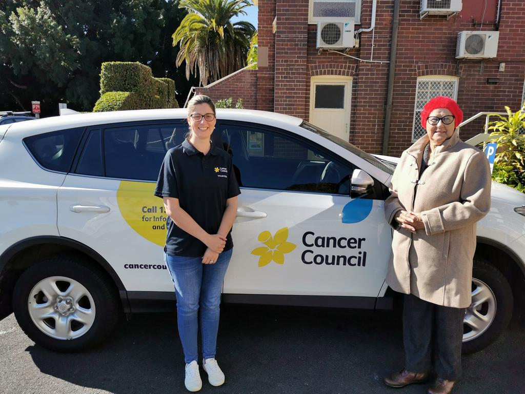 WHEELS: Karina Yates (left) with Jenny Campbell (right), who met through the Cancer Council T2T program. (CREDIT: Adam Daunt)