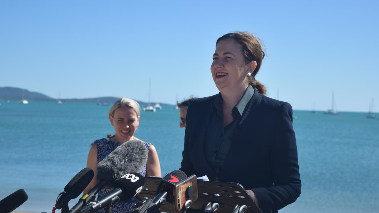Premier Annastacia Palaszczuk announced the flights in Airlie Beach yesterday. Image: Laura Thomas