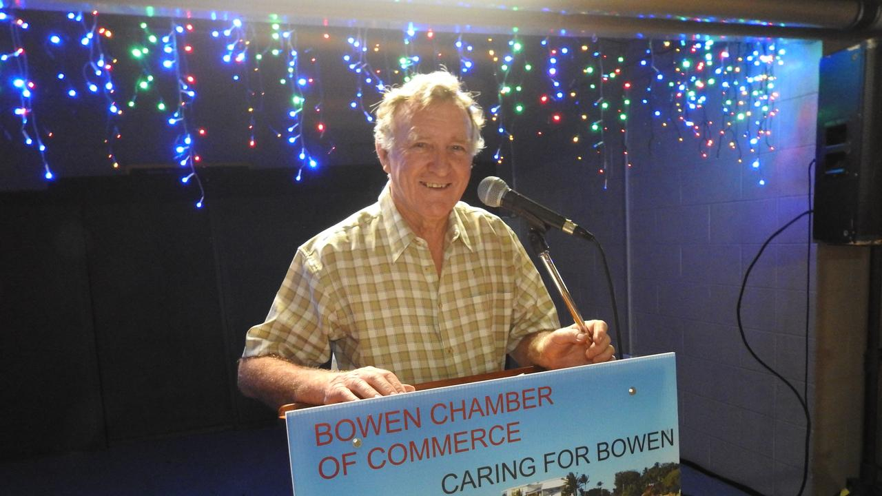 Bruce Hedditch at the Chamber of Commerce Christmas party.