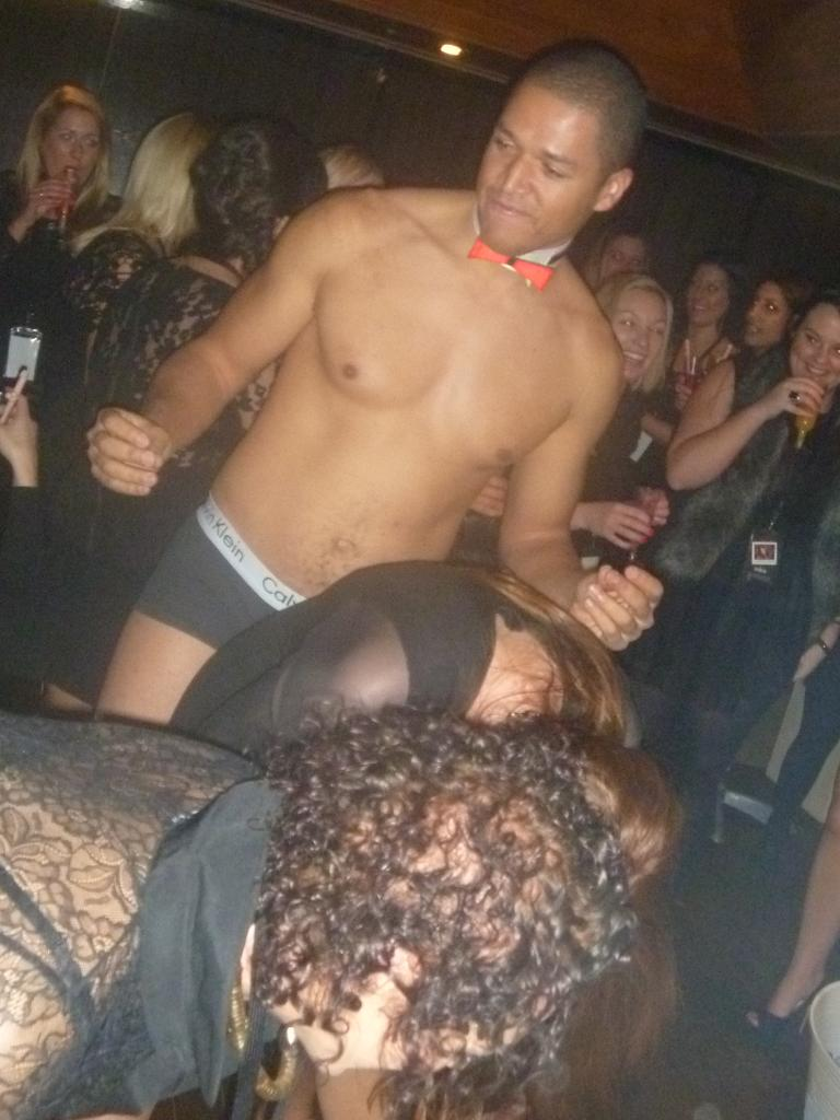 Bachelor Blake Garvey during his topless waiter days.