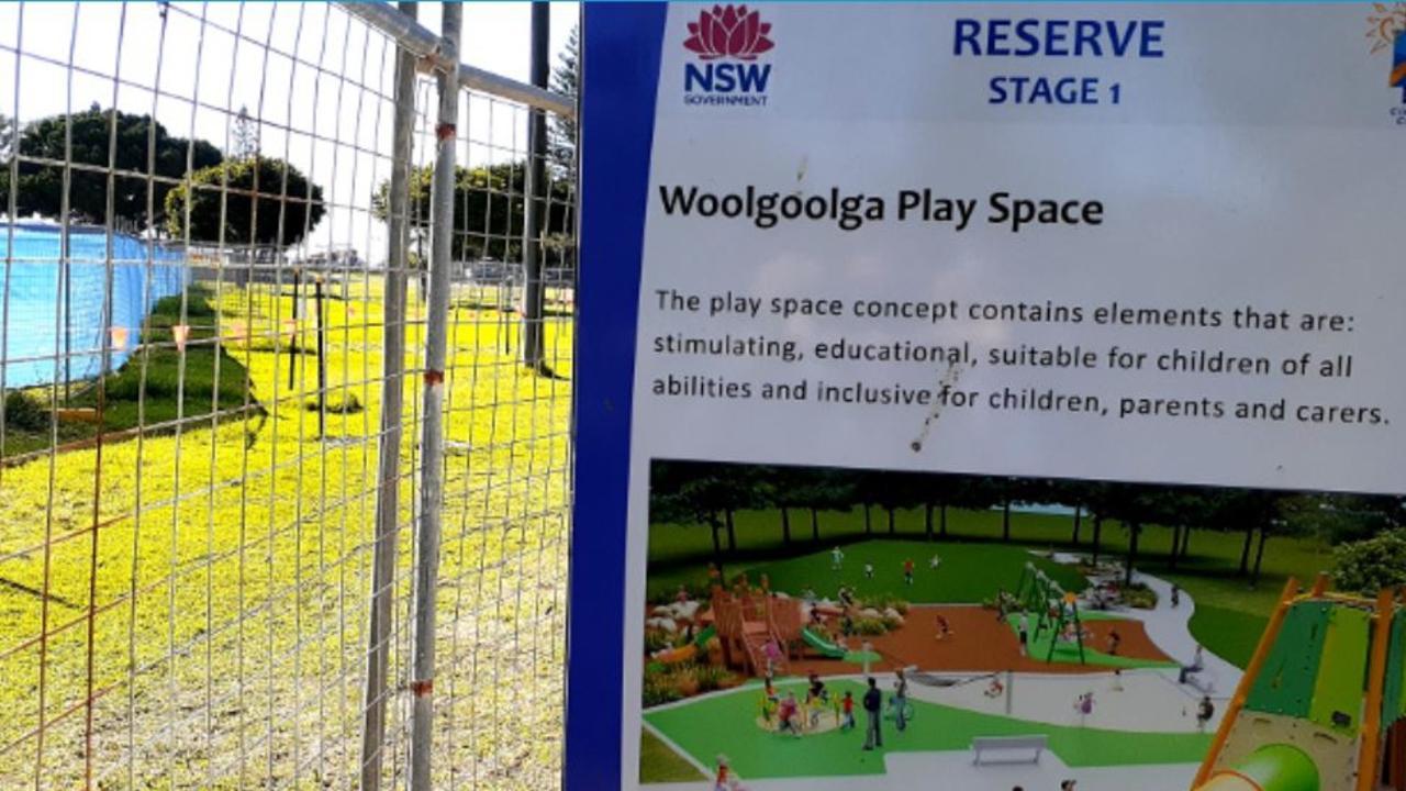 The Woolgoolga Beach Reserve Upgrade is underway.