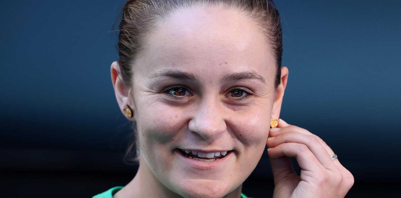 Ash Barty ahead of the 2019 Fed Cup final. (Photo by Paul Kane/Getty Images)