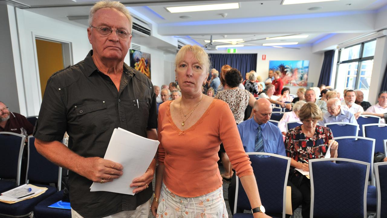 Parliamentary insurance inquiry held at Reef HQ into increases in insurance premiums for units in North Queensland. Lester Riley and Margaret Shaw put in a joint submission. Mr Riley is chairman of a lobby group called the Queensland Insurance Division of the Airlie Beach Ratepayers Association.