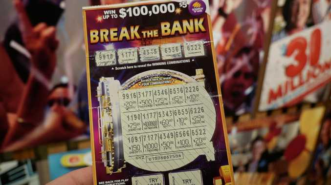 Man's shock act after scratchie win
