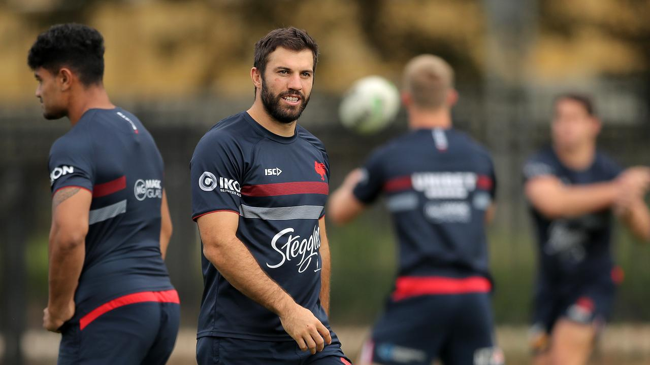 The Roosters could be without star fullback James Tedesco against the Broncos. Picture: Getty Images.