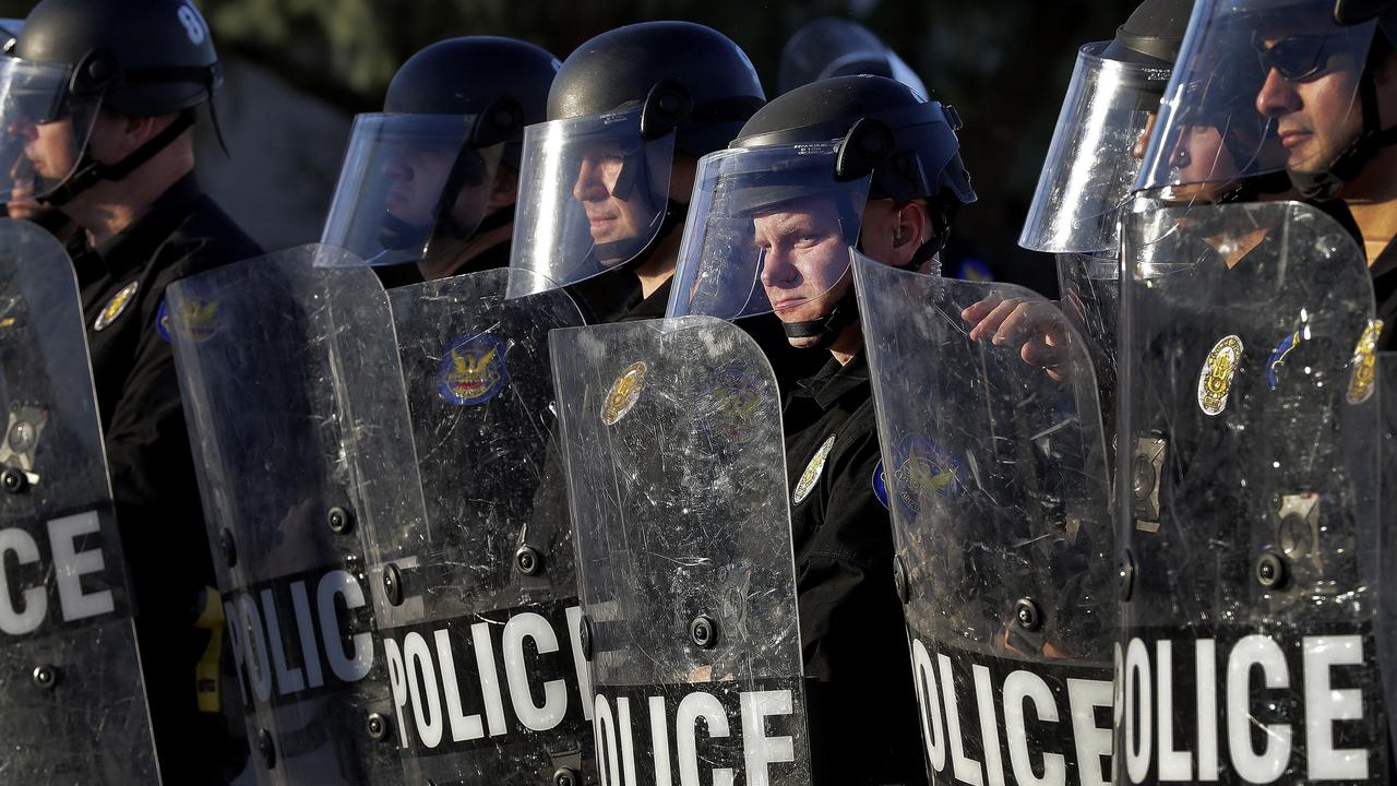 America is on the brink of several days of increasingly volatile protests. Picture: Matt York/AP