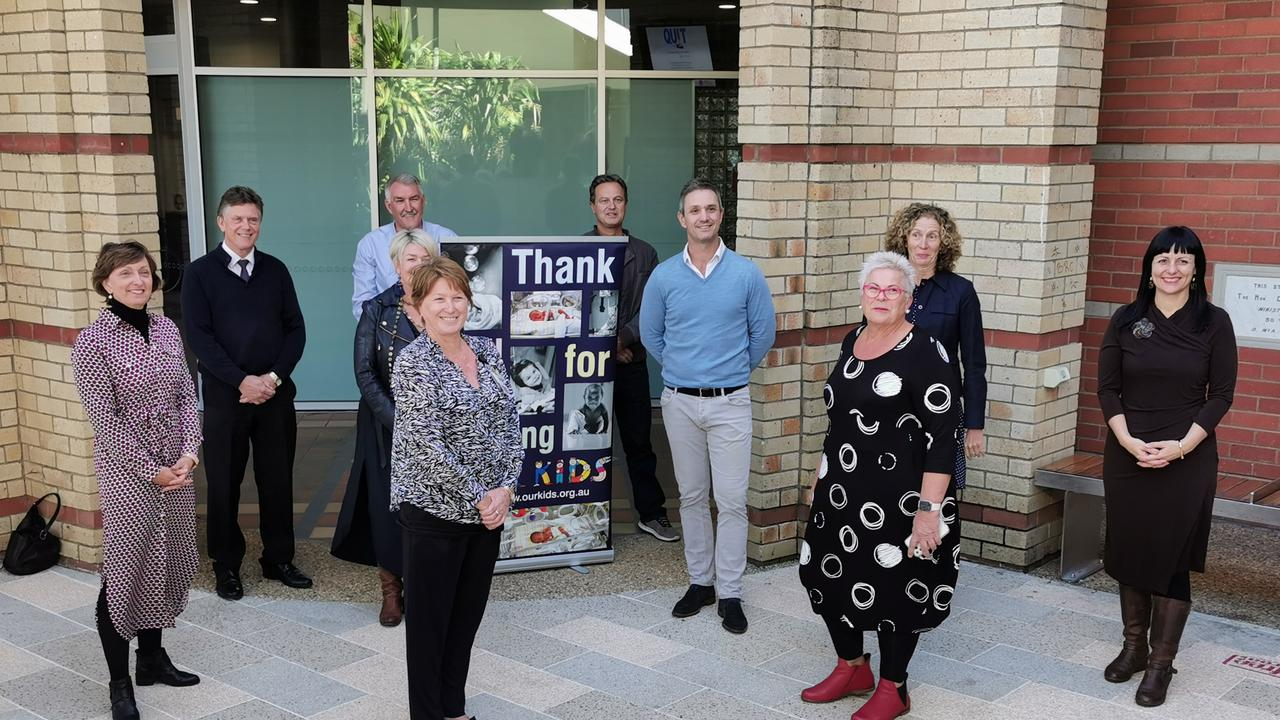 DONATION: Our Kids Fundraising Coordinator Rebekka Battista with members of Lismore Base Hospital and the Seaton Foundation announcing the donation. (CREDIT: Adam Daunt)