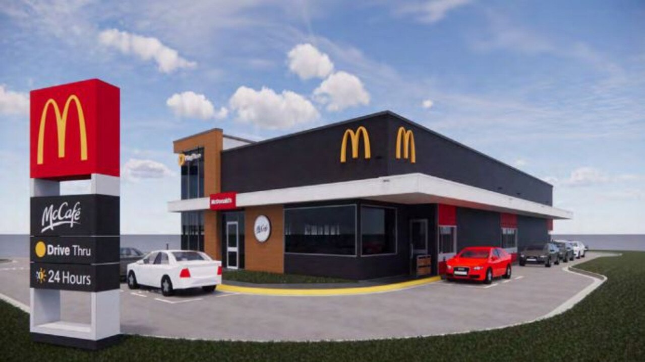 An image from engineering firm Richmond & Ross of the proposed McDonald's restaurant, submitted as part of the development application.
