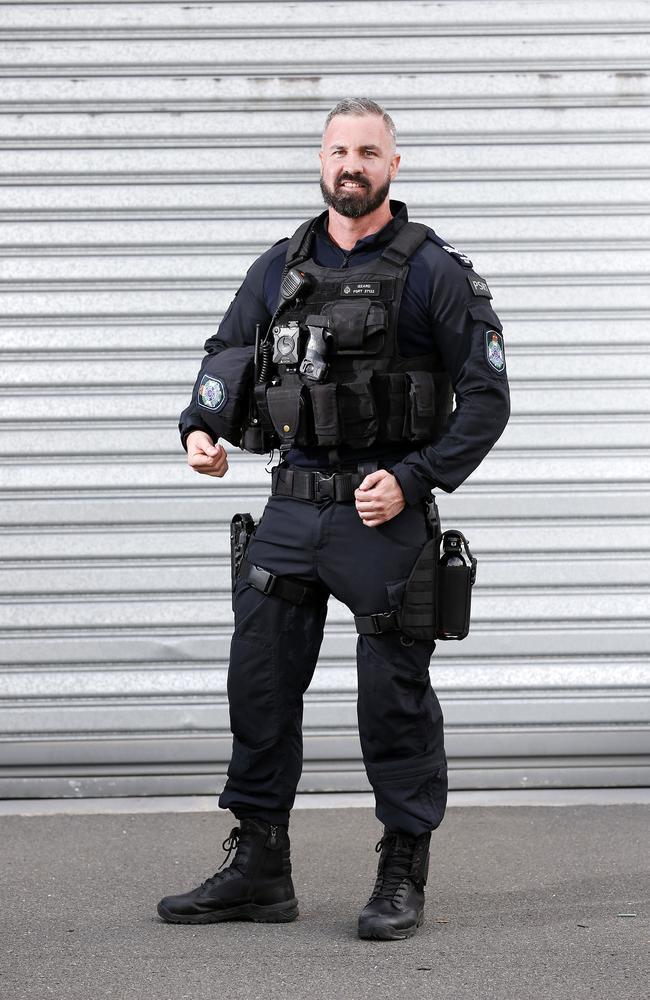 Senior Constable Aaron Izzard. Picture: AAP Image/Josh Woning