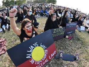 'Imagine you were born black': Protesters take stand